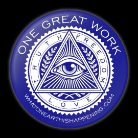 One Great Work Button – Blue