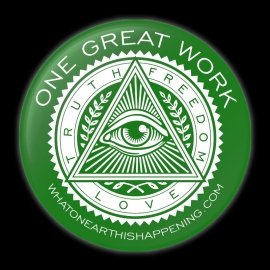 One Great Work Button – Green