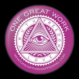One Great Work Button – Pink